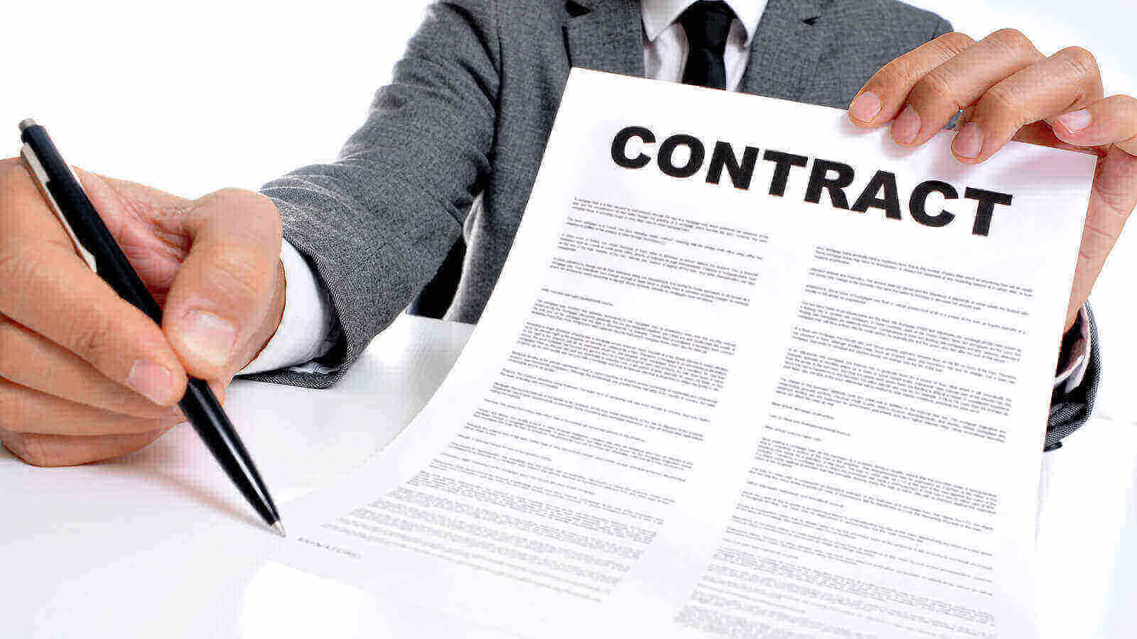 image showing contract