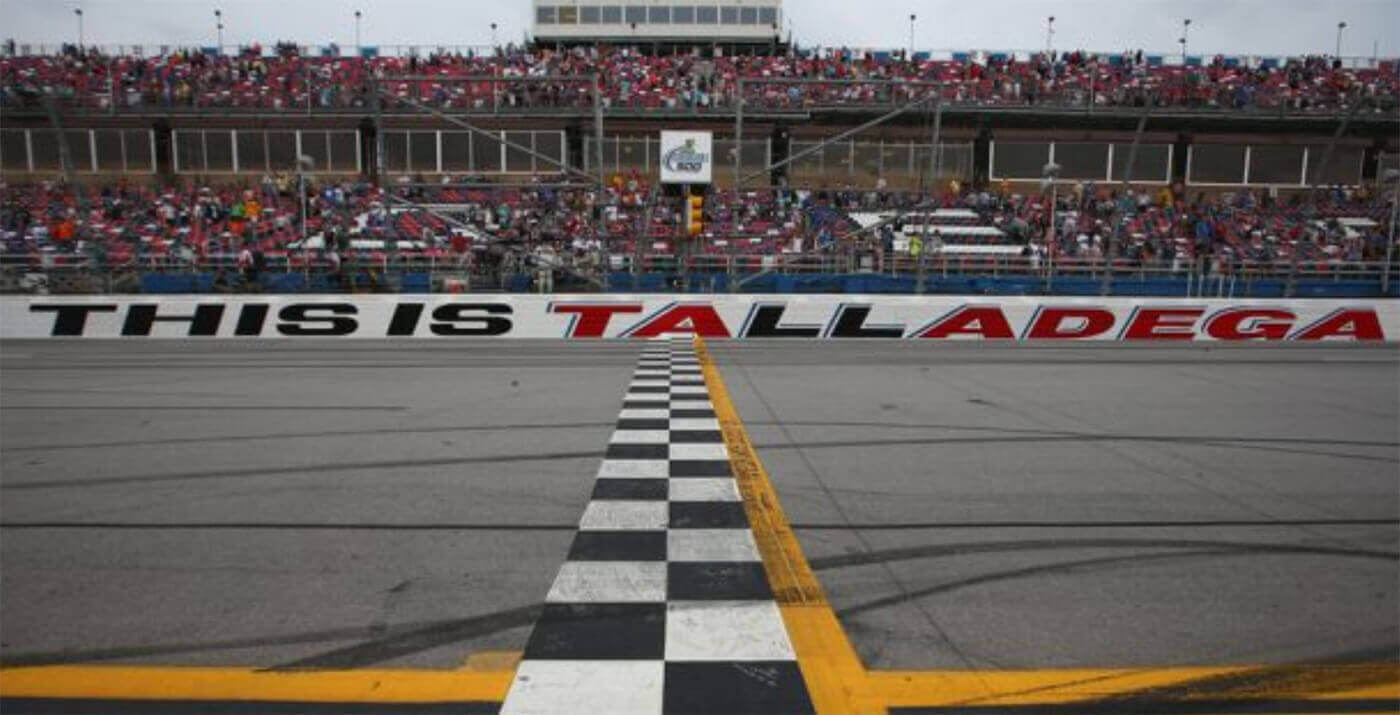 image showing racing track finish line