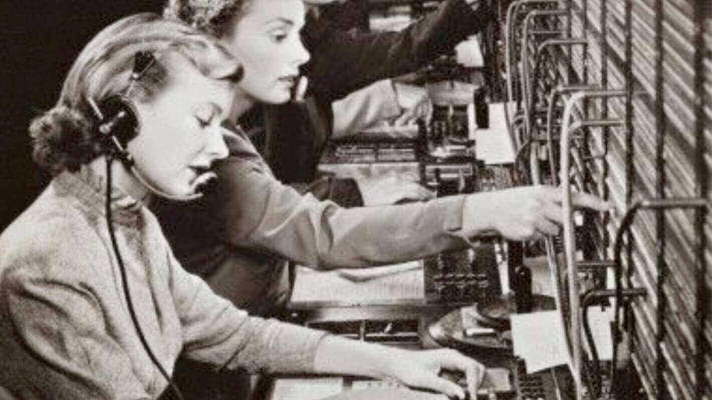 image showing wartime phone operators