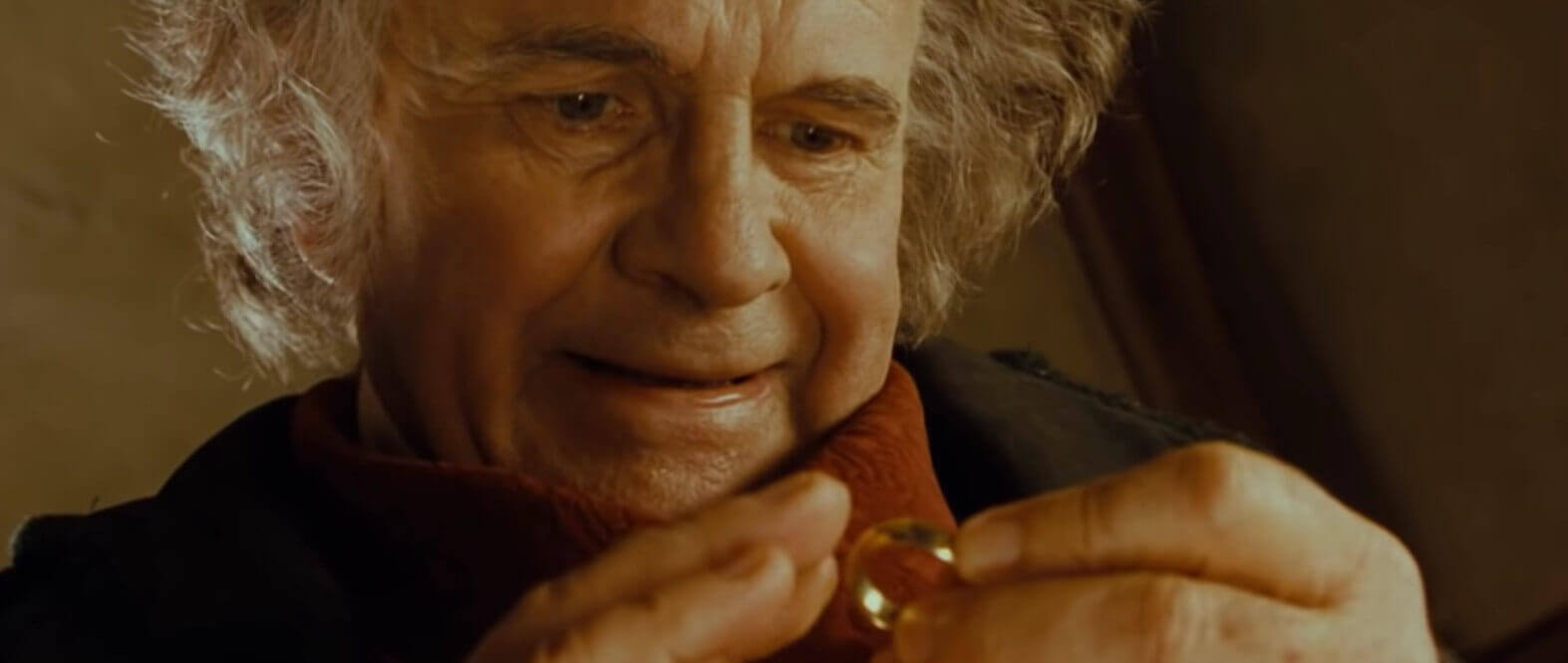 image showing bilbo baggins with ring from lord of the rings