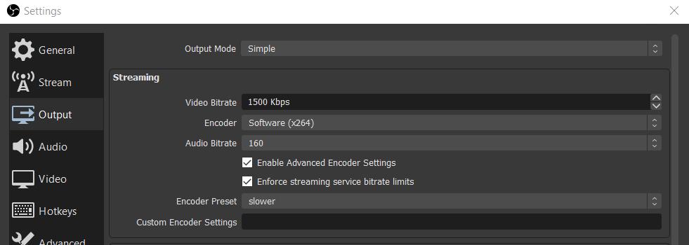 screenshot obs settings