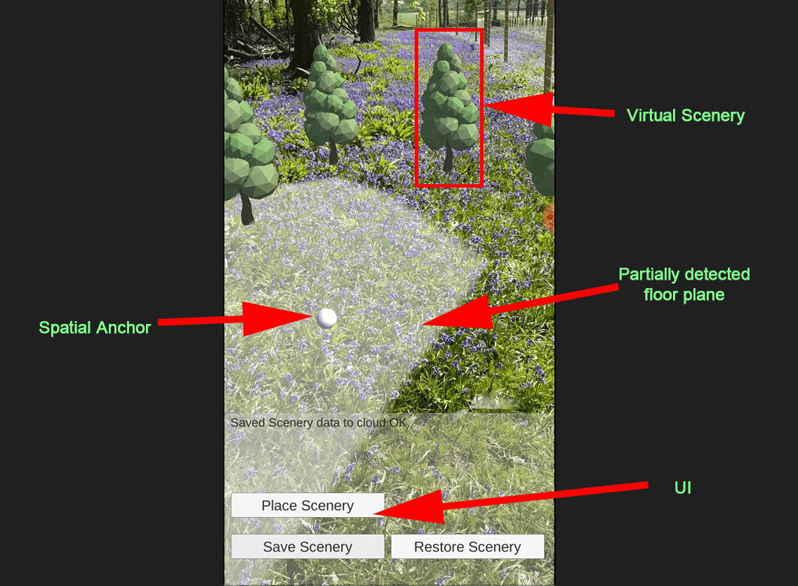 example AR set in woodland setting