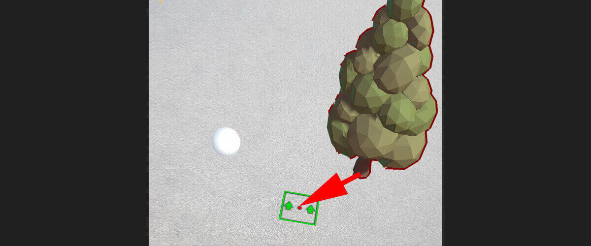 screenshot of selected tree moving