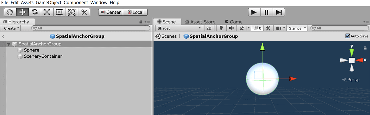 screenshot of spatialanchorgroup