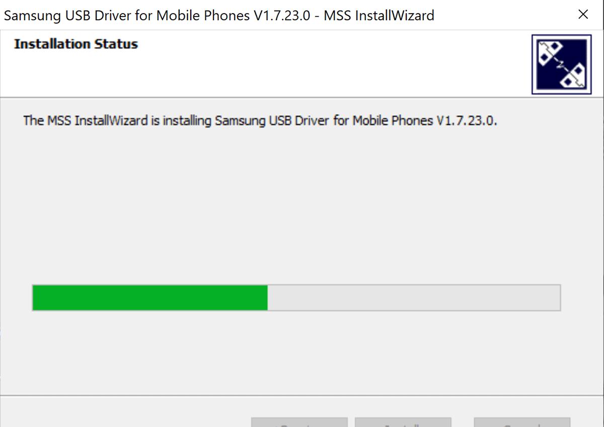 screenshot installing usb drivers