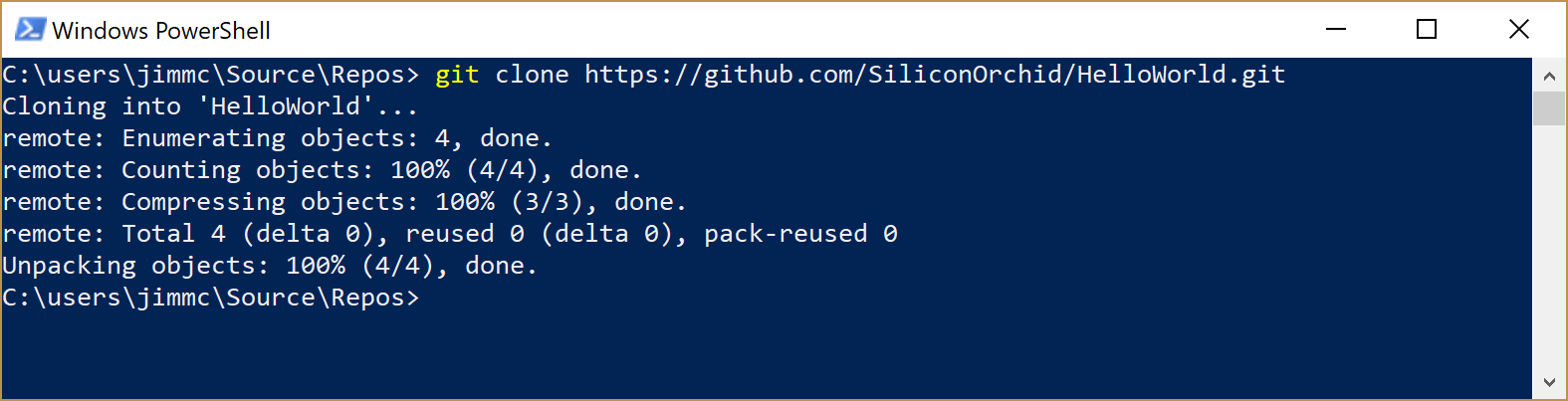 image showing git clone command