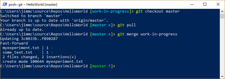 image showing Git merge