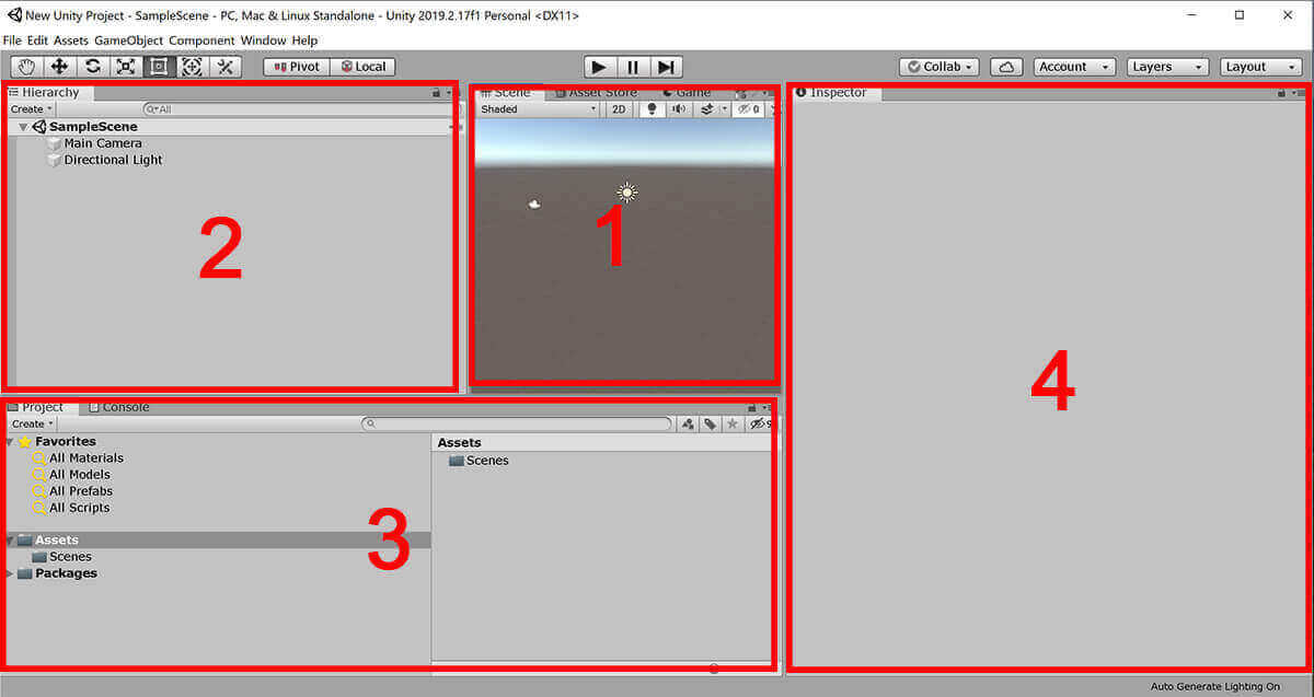screenshot of Unity editor with annotations
