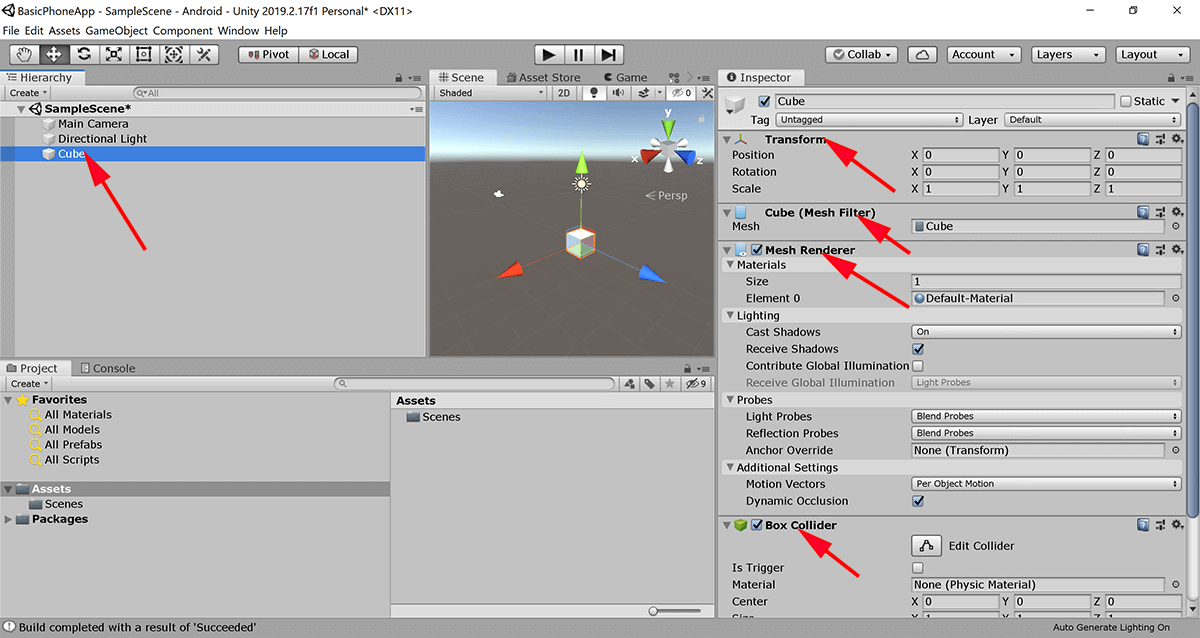 screenshot of Unity creating a new script