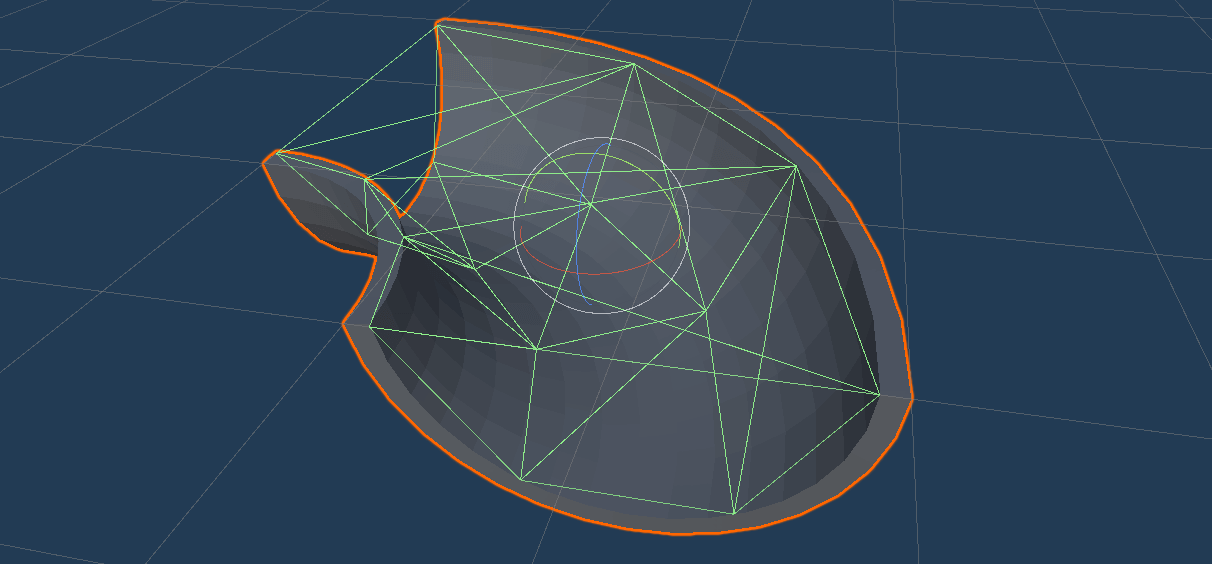 half-pipe model with basic mesh collider