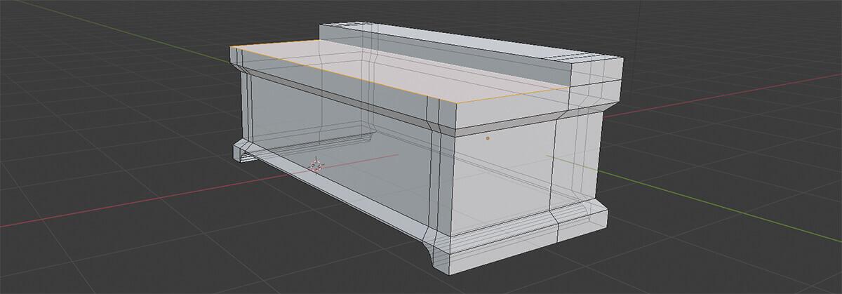 blender model desk