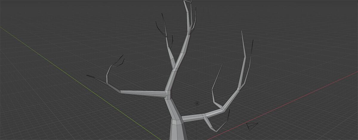 blender model of halloween tree