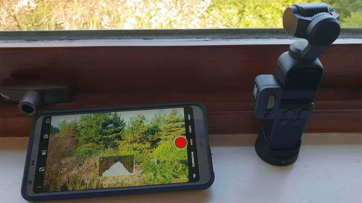 image showing osmo pocket wireless module in use